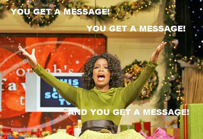 Typical, Oprah.