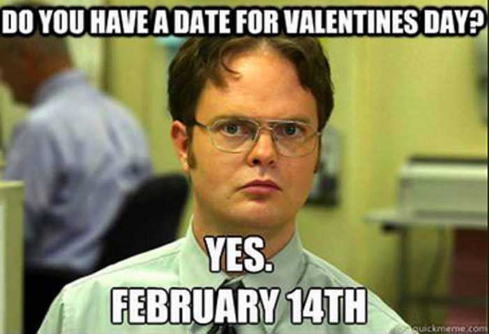 Funny Dwight The Office Valentine's Day Meme