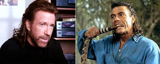 Van Damme + Chuck Norris = 2 Mullets You Never Want to Mess With