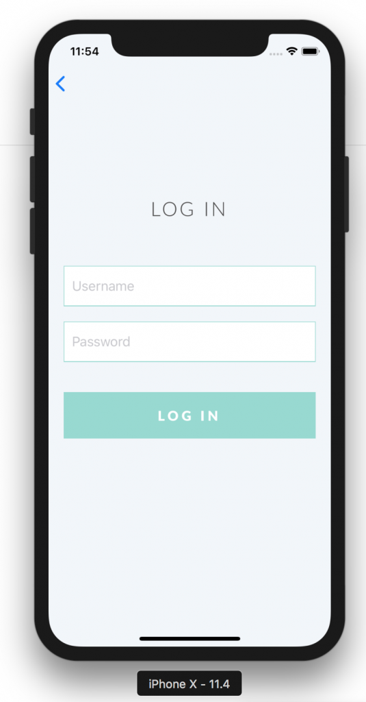 LFGdating iOS App Alpha Screenshot - Log In View
