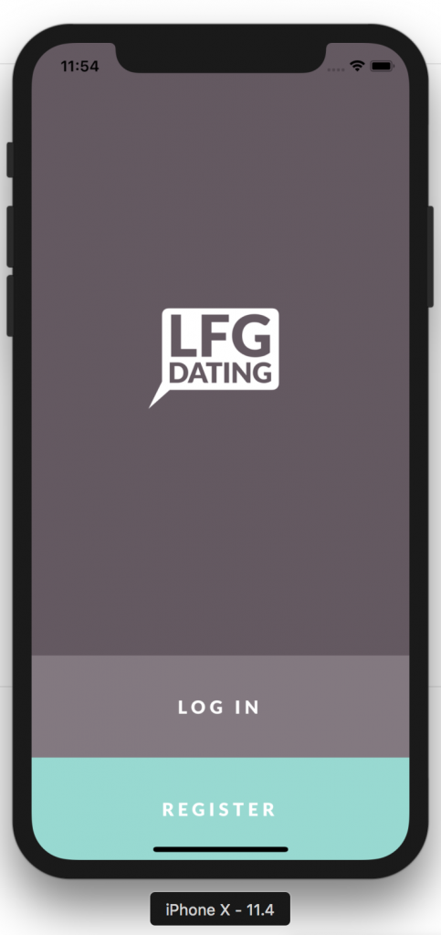 LFGdating iOS Alpha Screenshot
